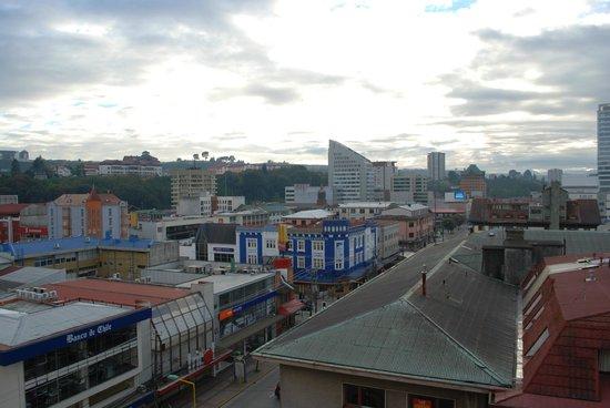 Apart Hotel Colon: Vista de la ciudad desde la habitación