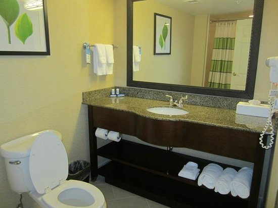 Fairfield Inn & Suites Valdosta: I stayed here a 2nd time and had a HUGE room - very spacious! (rm 500).  The bathroom.