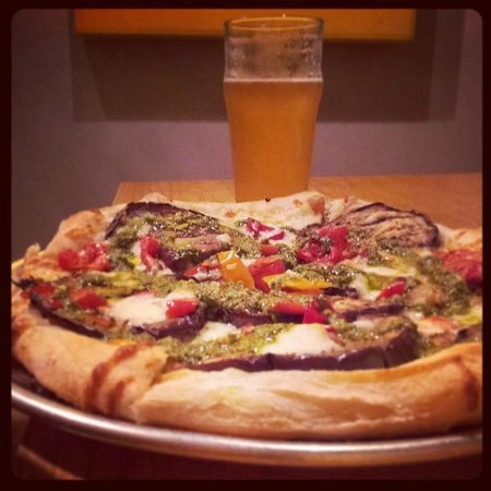 Pies and Pints: eggplant and red pepper pie!
