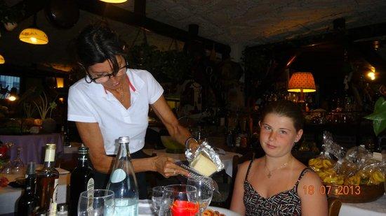 Osteria Fra Goloso: Der rives ost