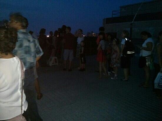 Boston University Observatory: queue for a telescope