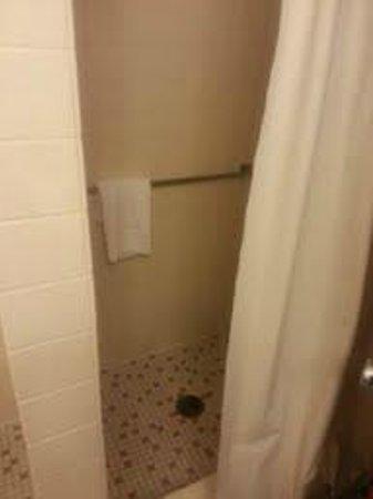 Milwaukee Athletic Club: Hotel room shower but looks like a locker room