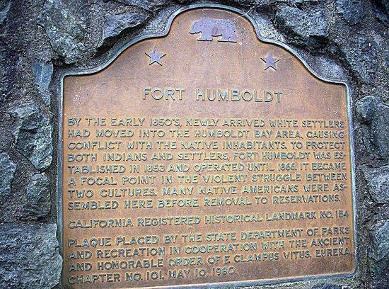State Marker For Fort Humboldt Picture Of Fort Humboldt