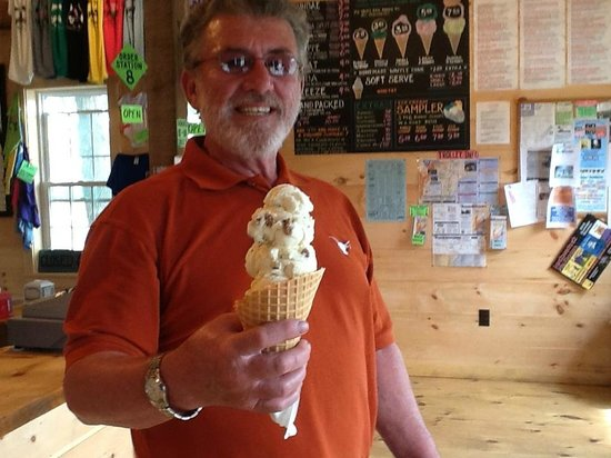 Scoop Deck: Three scoops was a lot, but it was lunch!