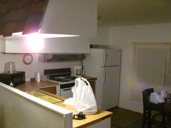 Little A'Le'Inn: The kitchen, one of the three shared areas inside the mobile home units.