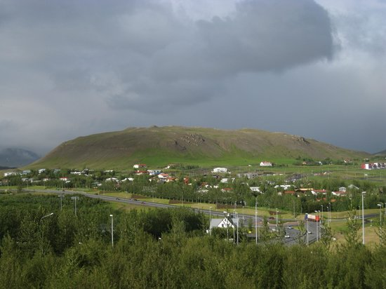 View of the area behind the Hotel Laxnes.