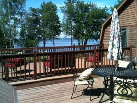 Water's Edge Bed & Breakfast : View from the Suite's private deck