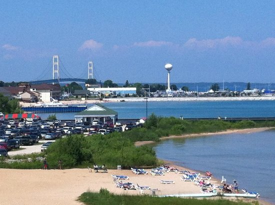 Quality Inn & Suites Beachfront: view of bridge from balcony