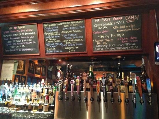 The Front Door: current beer selection with staff picks