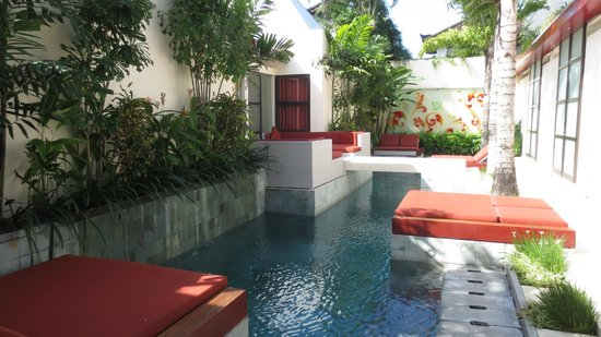 Bali Ginger Suites & Villa: Ginger Suites pool area. View from Shikumen Suite