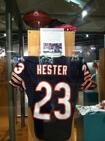 Devin Hester's jersey - Picture of Pro Football Hall of Fame ...