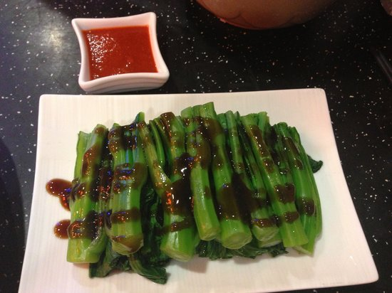 Sands Casino Resort: Yu Choy with Oyster sauce at Chopstiks Restaurant