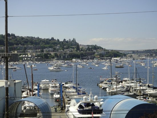 Silver Cloud Inn Seattle - Lake Union : View from the room on the 4th with all the boats on the lake