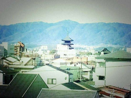 โรงแรมไดว่ารอยเนต เกียวโต-ฮาจิกุจิ: 五重塔が見えました