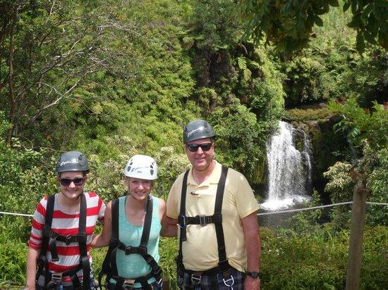 Skyline Eco Adventures - Akaka Falls: Me and my girls! Ziplining!!