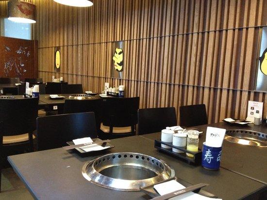 Gyu Ichi Yakiniku and Japanese Restaurant: Inviting interior