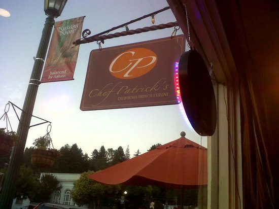 Chef Patrick's: View of sign from table