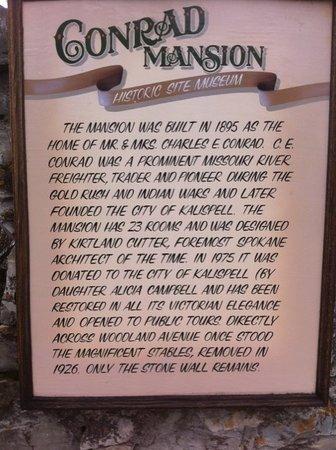 Conrad Mansion: Historical Info