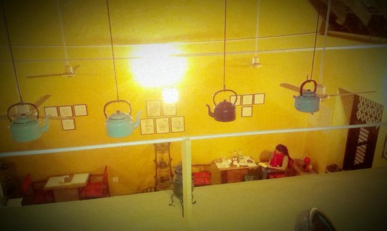Teapot Cafe: Looking down from the attic level