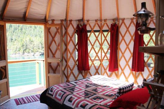 """Orca Island Cabins: """"Puffin"""" Yurt"""