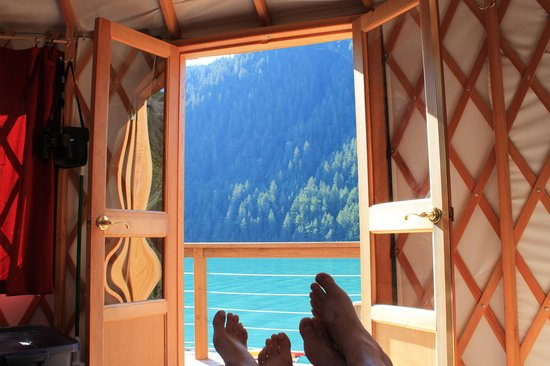 Orca Island Cabins : Now that's a view