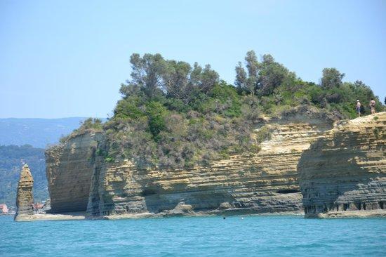 Delfino Blu Boutique Hotel: vom Bott aus entlang der Küste Richtung Sidari