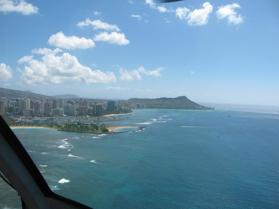 Blue Hawaiian Helicopter Tours Maui Oahu Ala Moana Beach Park Diamond Head