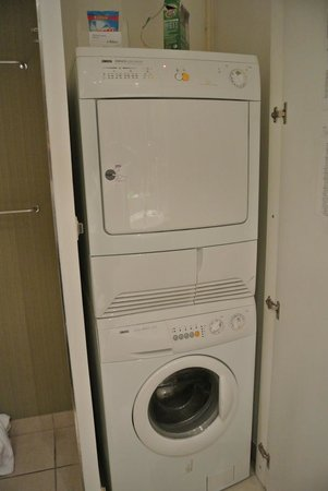 Washer Dryer in bathroom (1-bedroom Apartment) - Picture of Adina ...