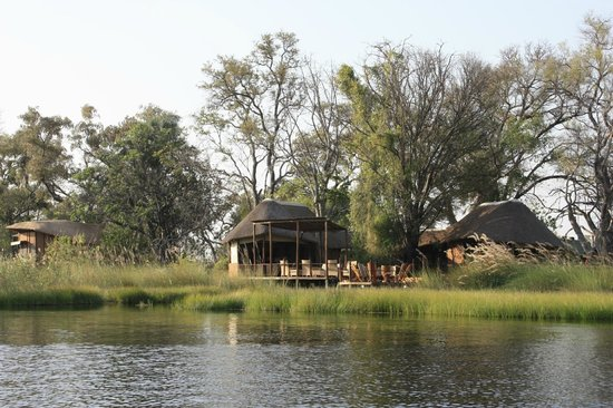 Sanctuary Baines' Camp: Main area viewed from the boat trip