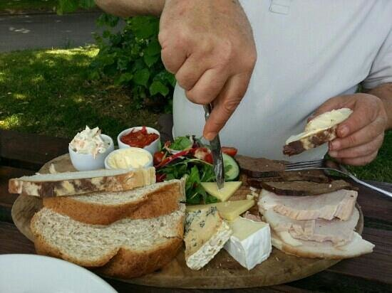 Litton, UK: Ploughman's Platter for two. Recommended