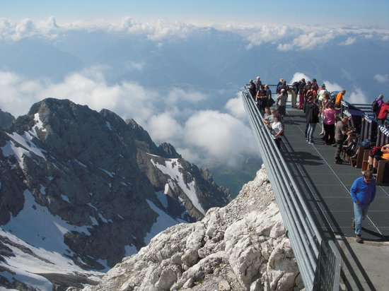 Pension Hoffelner: View from the top of the Dachstein Glacier