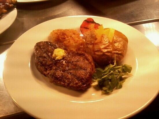 Miller & Carter: rump steak with jacket potato
