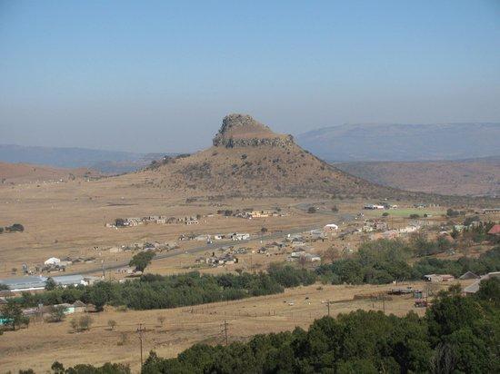 Isandlwana Lodge: View from my balcony