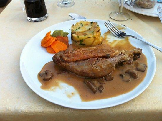 Auberge La Ferme du Brusquand : Confit de canard