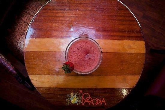 Bar A Parodia: Fresh strawberry's marguerita!