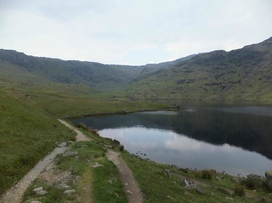 Easedale Tarn: View of the tarn on arrival from Grasmere