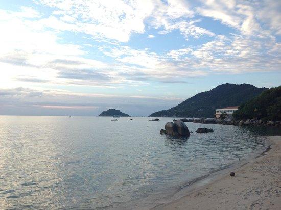 Koh Tao Regal Resort : Beach view, north