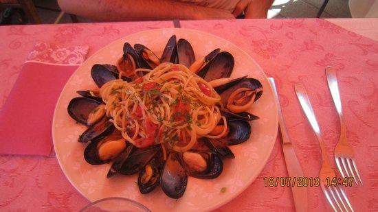 La Pagoda: spaghetti con cozze