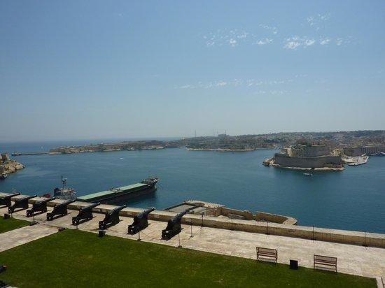 Villa Del Porto: Blick v. Valetta auf Klakara und Vittoriosa
