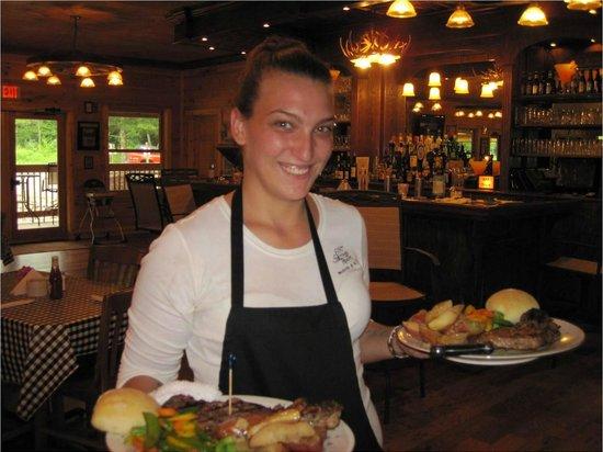 Elk Springs Resort: Steak dinner