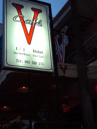 V Cafe (Restaurant/Bar/Live Music): Vcafe sign