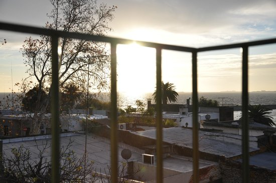 Hotel Posada del Virrey: Por do sol da sacada do quarto