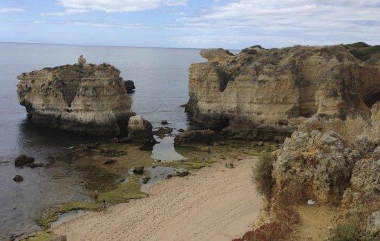 Praia dos Olhos de Agua: Great beach with hidden caves