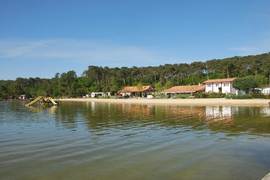 Camping Maguide : Vue du camping depuis la digue