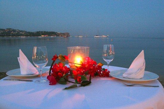 Hostal Talamanca: Cena romantica