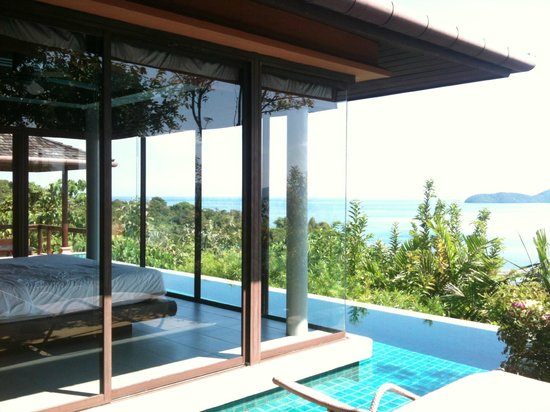 Sri Panwa Phuket Luxury Pool Villa Hotel: View from our bedroom