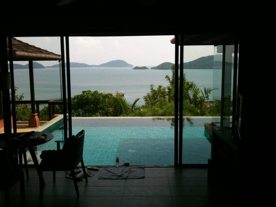 Sri Panwa Phuket Luxury Pool Villa Hotel: View from our pool villa