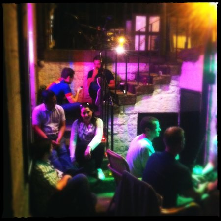 The Basement: Outdoor drinking and dining area