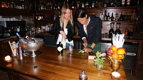 Barracuda: Showing off our bartending skills