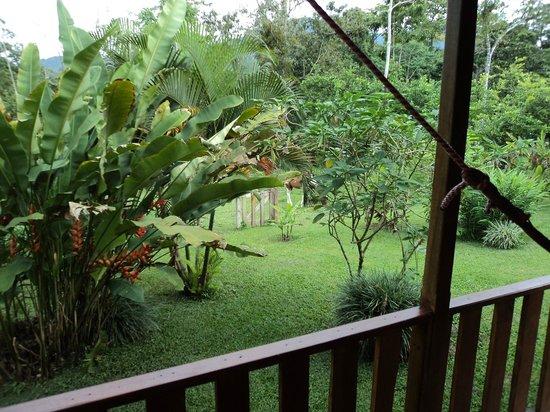Hotel Rancho Cerro Azul: La vue du porche arrière